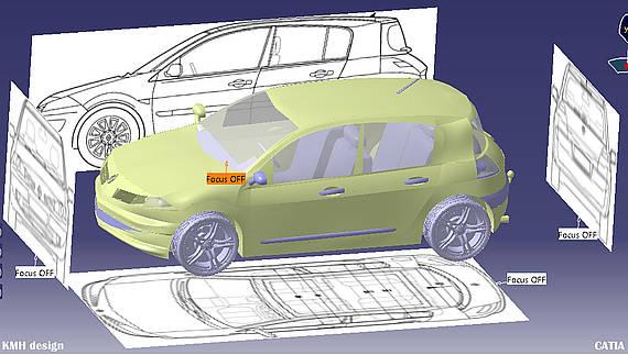 CATIA | CAR DESIGN | RENAULT MEGANE | 3DS Academy